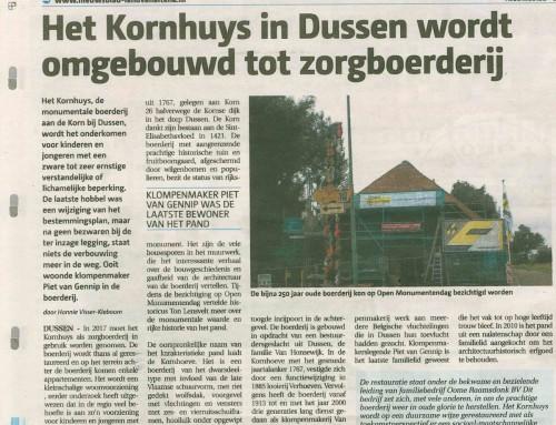 """""""Het Kornhuys"""" in Dussen in de krant"""