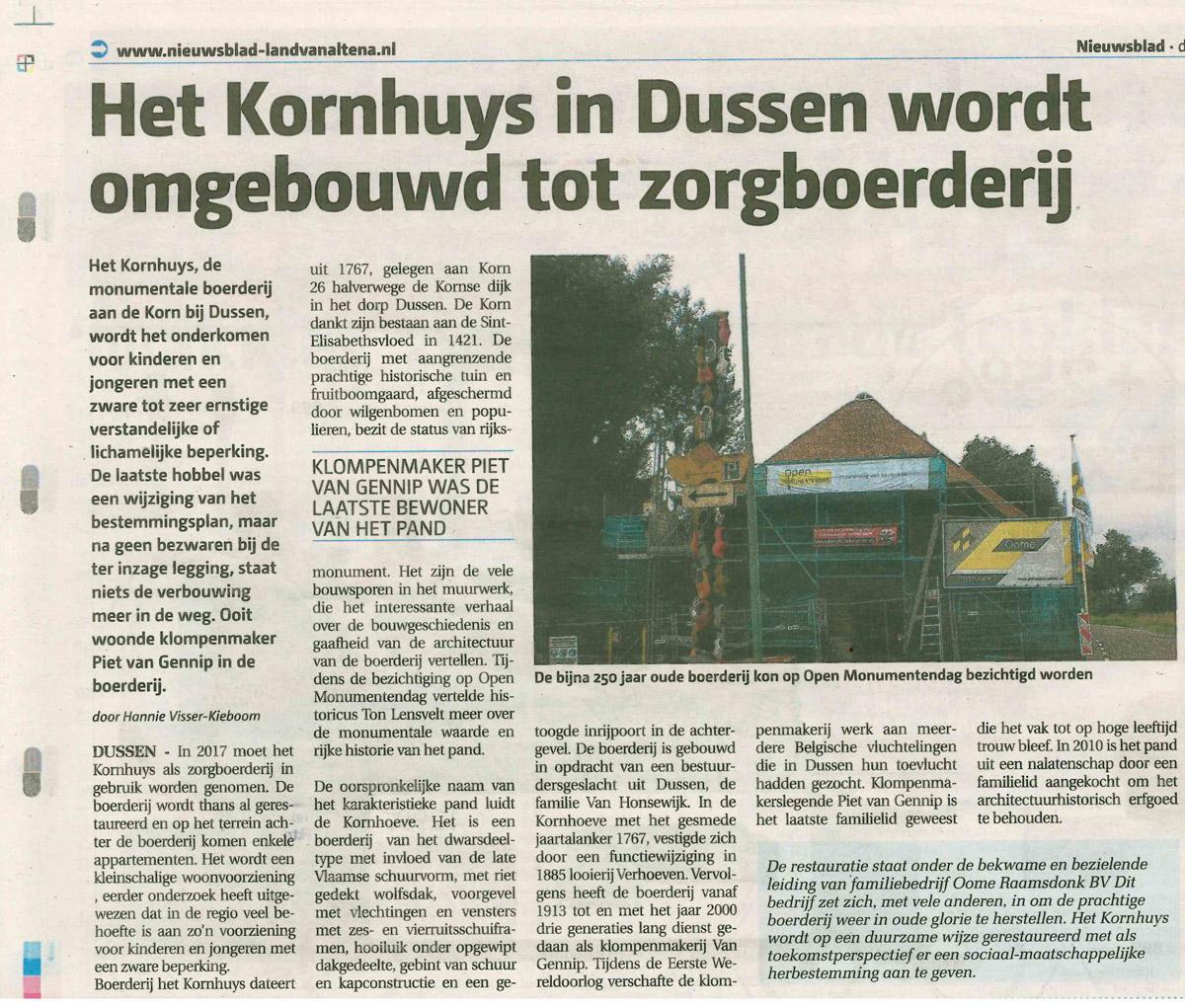 Kornhuys-Krantenknipsel